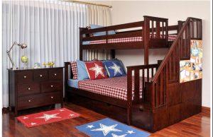 Dipan Tingkat Anak Jati 2 Beds,Tempat Tidur Minimalis,Dipan Anak Murah