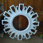 Pigura Cermin Duco Putih